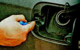Как снять лючок бензобака шкода октавия