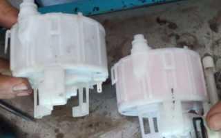 Где находится топливный фильтр хендай солярис