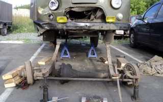 Замена подшипника хвостовика переднего моста уаз