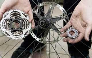 Замена задней звездочки на велосипеде